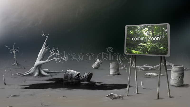 Download Waste land stock illustration. Image of ecosystem, environment - 8759658