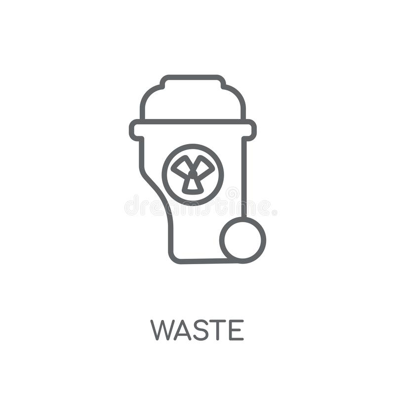 Waste linear icon. Modern outline Waste logo concept on white ba royalty free illustration