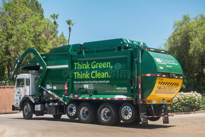 Waste Management Garbage truck. Scottsdale,AZ/USA - 7.4.19: Waste Management Inc, is an American waste management, & environmental services company in North royalty free stock image