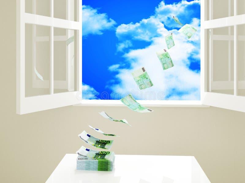 Waste money stock illustration
