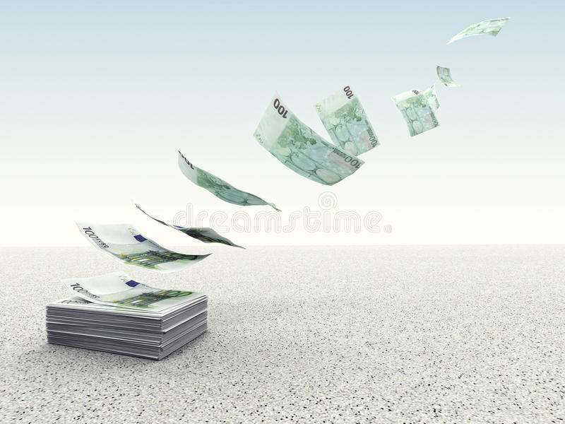 Waste money stock illustration