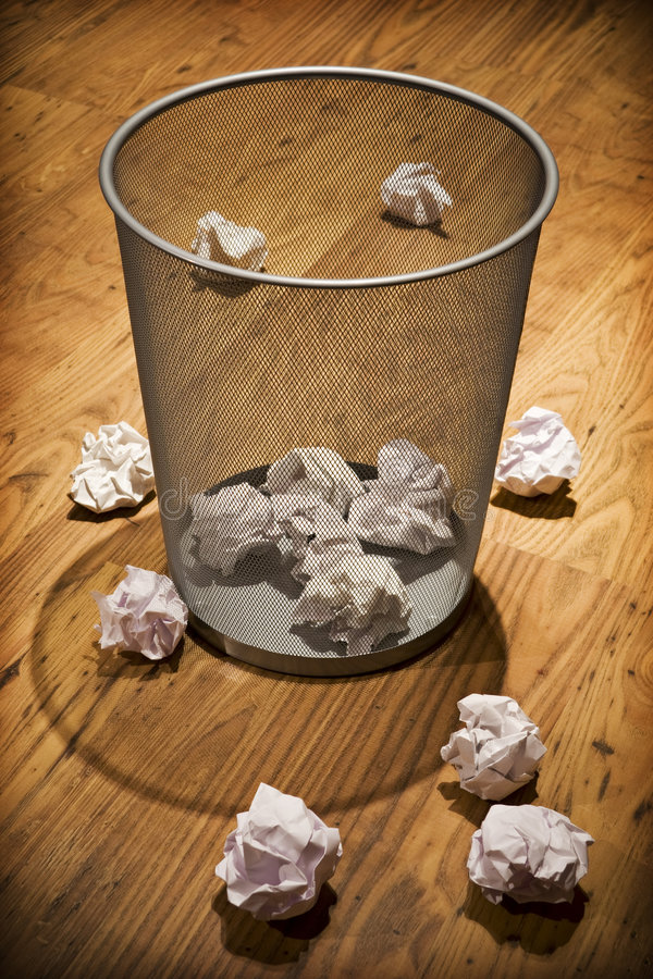 Download Waste paper basket stock image. Image of working, container - 6978149
