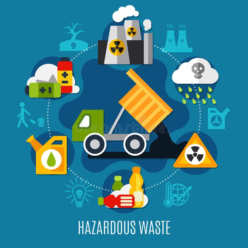 Waste And Pollution Concept royalty free illustration