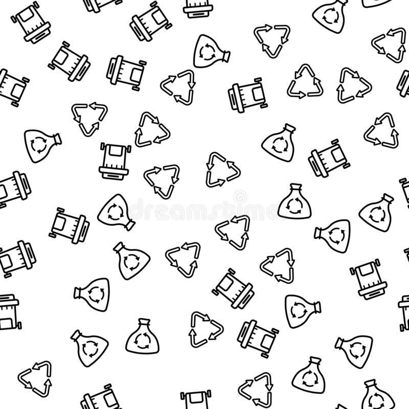 Waste Process Recycling Seamless Pattern Vector royalty free illustration