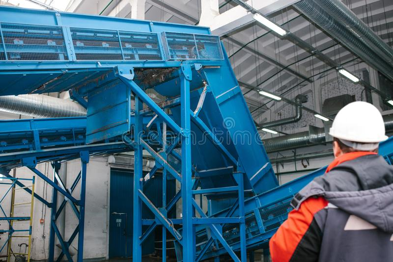 Waste processing plant. royalty free stock photography