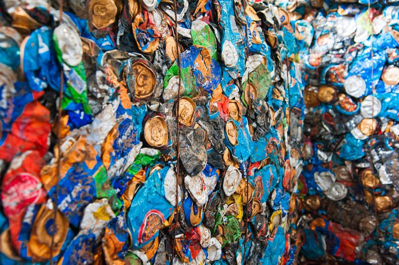 Waste recycling factory. Waste processing plant. Technological process. Recycling and storage of waste for further disposal. Business for sorting and processing royalty free stock photos