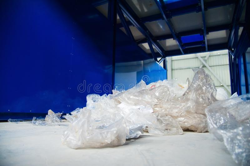 Waste recycling factory stock image