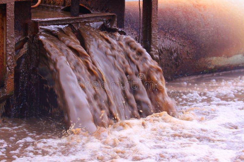 waste vatten arkivbild