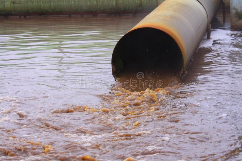 Waste water royalty free stock photo