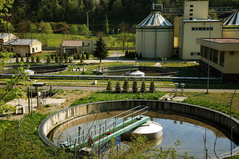 Waste water treatment royalty free stock photos