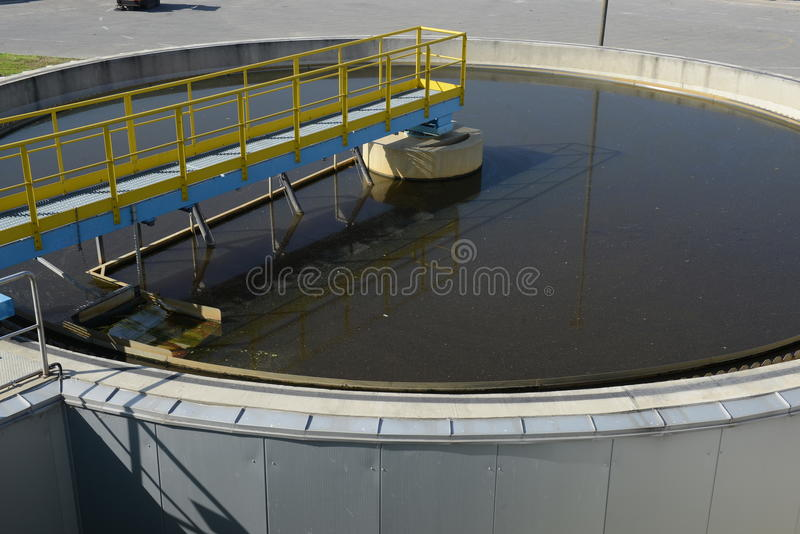 Waste water treatment plant stock photography