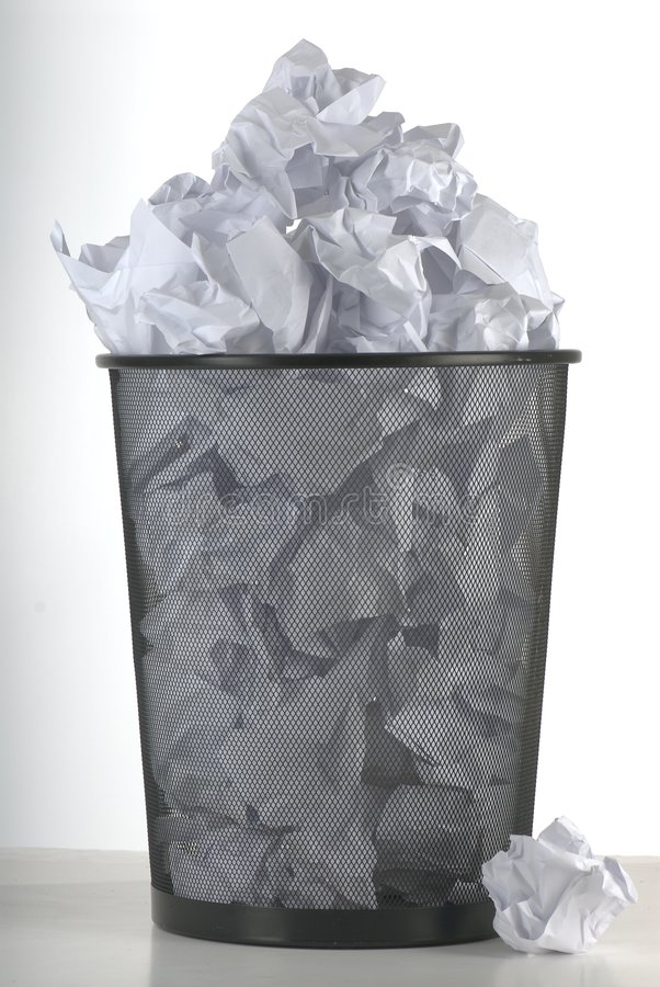 Download Wastebasket stock image. Image of vertical, isolated, studio - 2323399