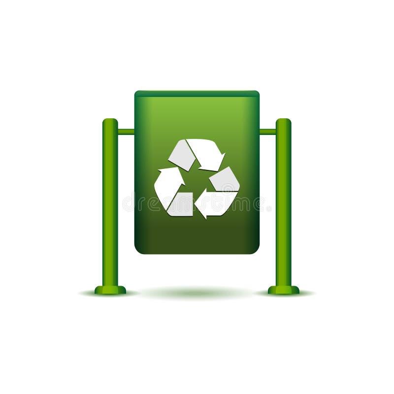 Wastebasket ikona ilustracji