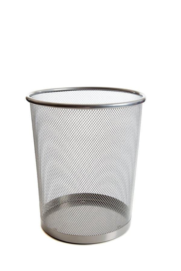 Wastebasket vazio do engranzamento imagens de stock royalty free