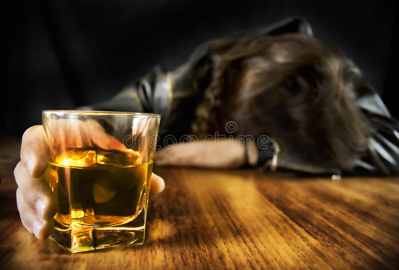 Download Wasted Young Man stock image. Image of depression, glass - 19900577