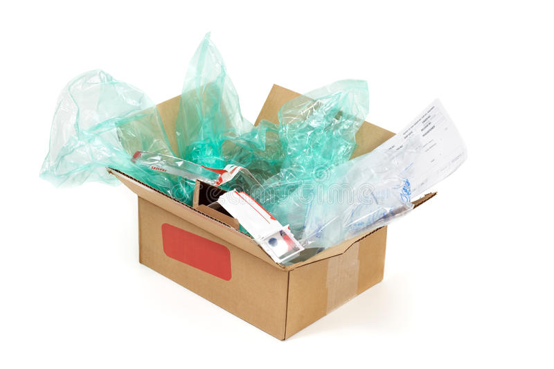 Wasteful packaging royalty free stock image