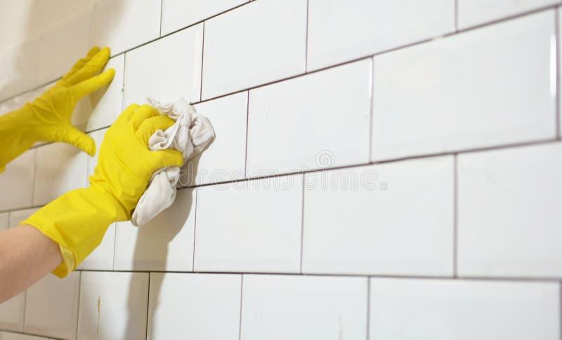 Download Wastegels Na Keukenwederopbouw Stock Afbeelding - Afbeelding bestaande uit work, hygiëne: 107703395