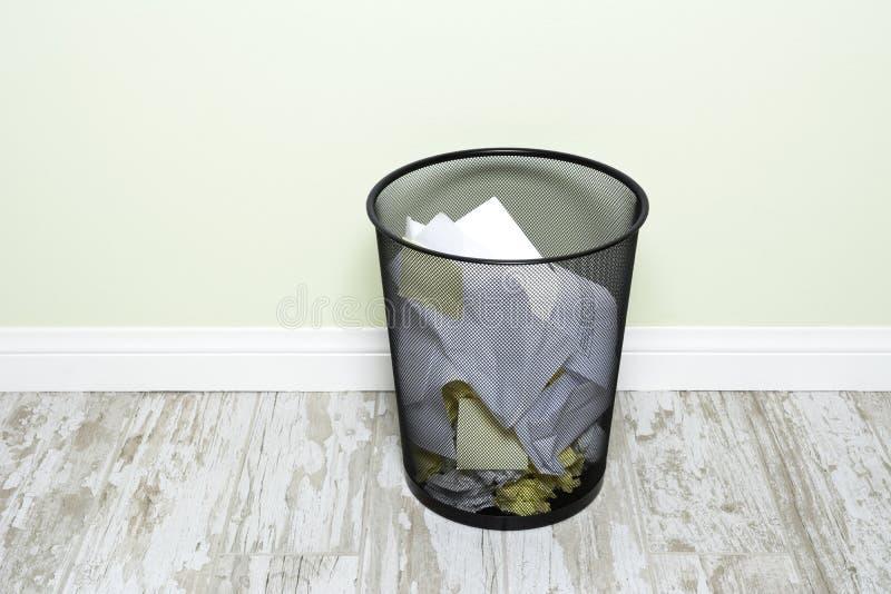 Wastepaper basket stock image