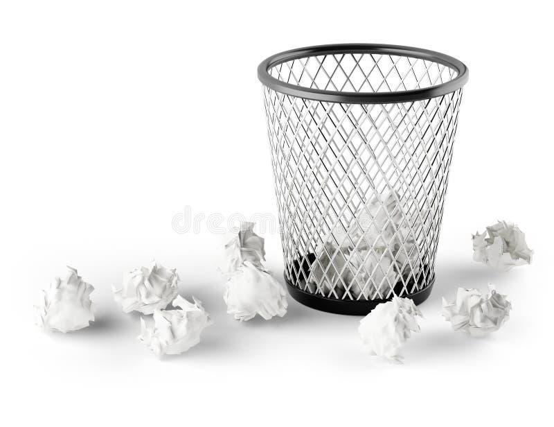 Waste Paper Basket wastepaper basket royalty free stock photo - image: 33407625