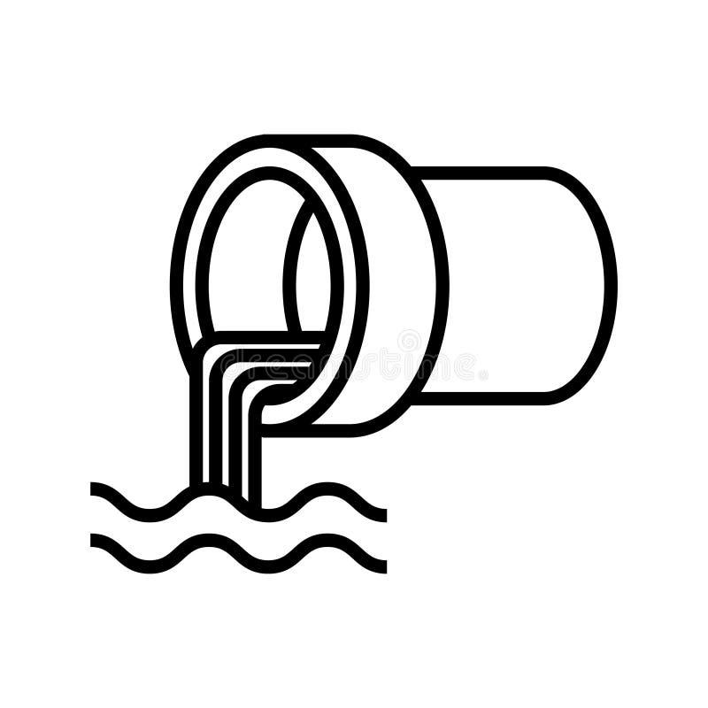 Wastewater icon, illustration stock illustration