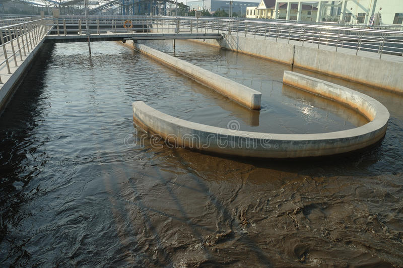 Wastewater treatment stock photos