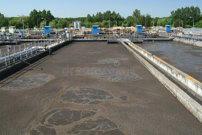Wastewater treatment royalty free stock image