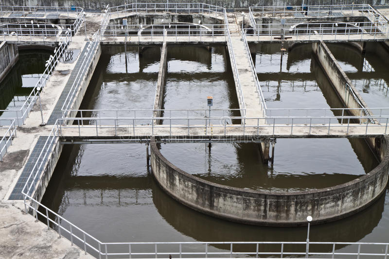 Wastewater Treatment Plants. Royalty Free Stock Photos