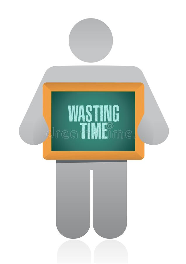 Wasting time avatar sign concept vector illustration