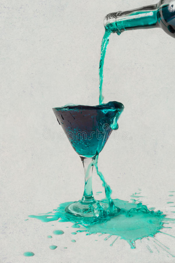 Wasting. Water, wine, drink splashing out of a glass royalty free stock images
