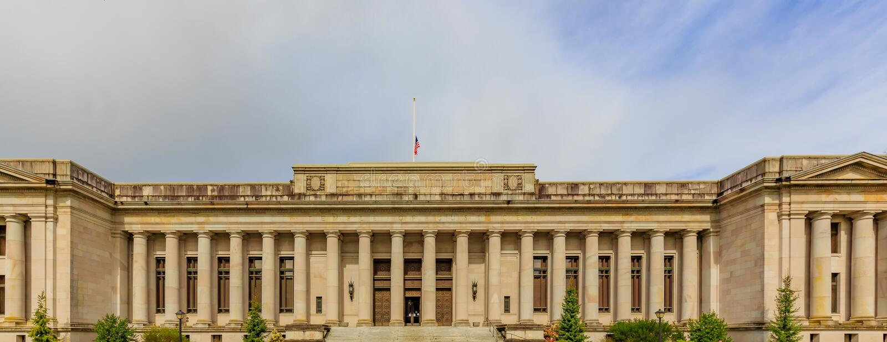 Waszyngtońska świątynia sprawiedliwość zdjęcia royalty free