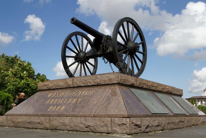 Waszyngtoński artyleria pistolet fotografia stock