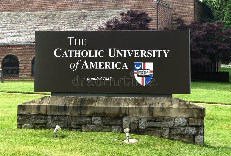 Waszyngton, DC - Czerwiec 01, 2018: Katolicki uniwersytet Ameryka zdjęcie royalty free