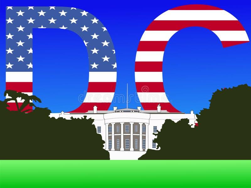Waszyngton dc domu white ilustracji