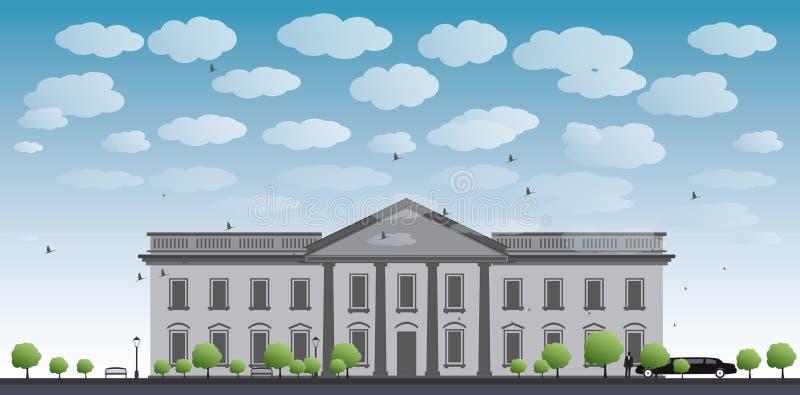Waszyngton dc domu white royalty ilustracja