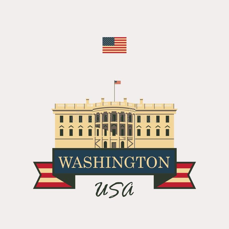 Waszyngton dc domu white ilustracja wektor