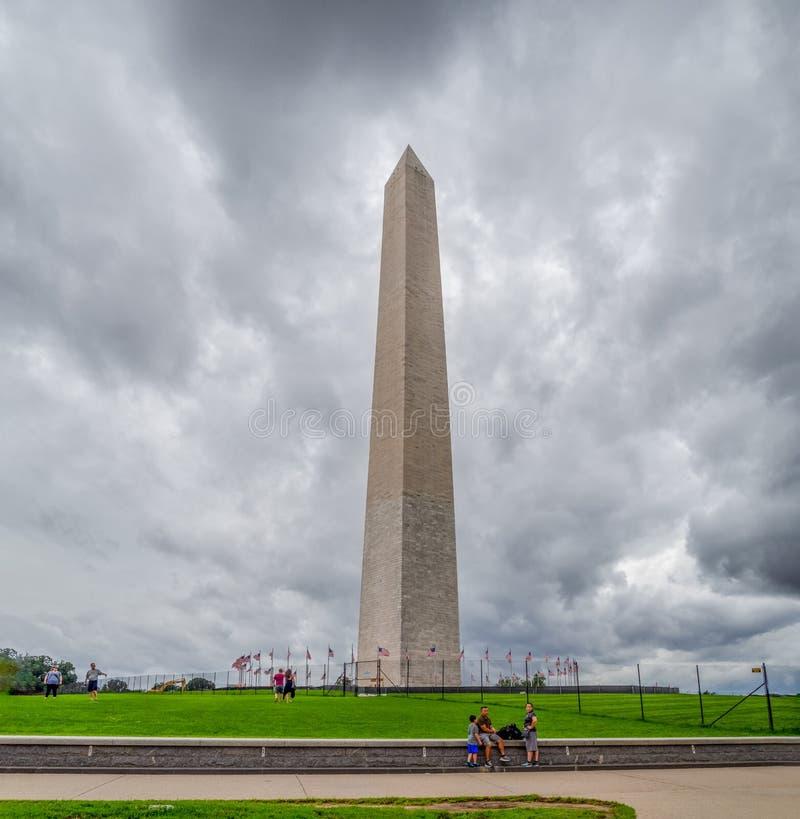Waszyngton DC, dystrykt Kolumbii [Stany Zjednoczone, obelisk, na centrum handlowym stolicy, pula refleksyjna obrazy stock