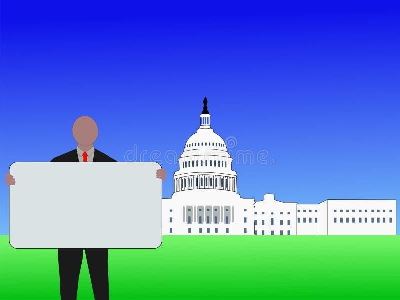 Waszyngton dc ludzi znak ilustracja wektor