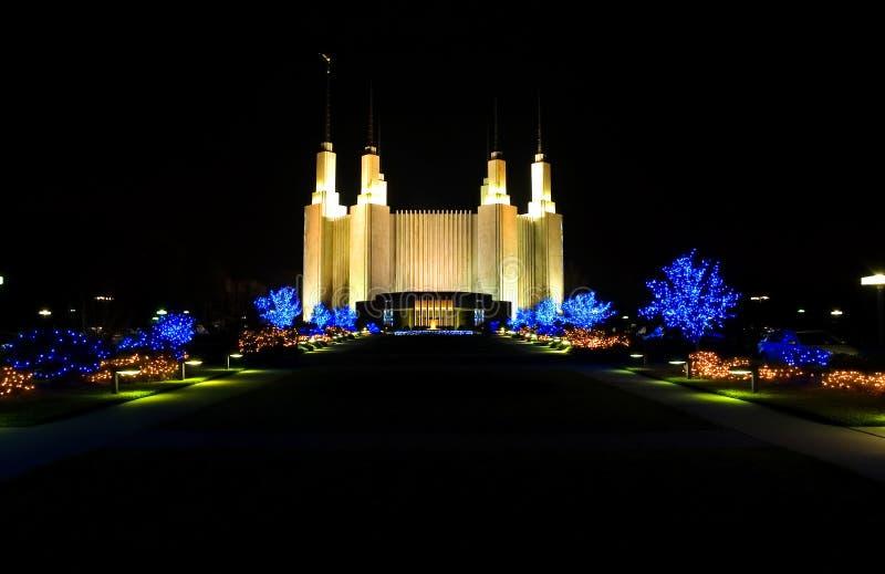Waszyngton dc mormon świątyni obrazy royalty free