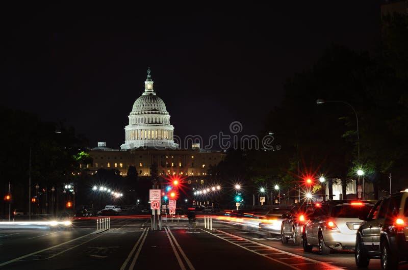 Waszyngton DC, od Pennsylwania Bulwaru USA Capitol. obrazy royalty free
