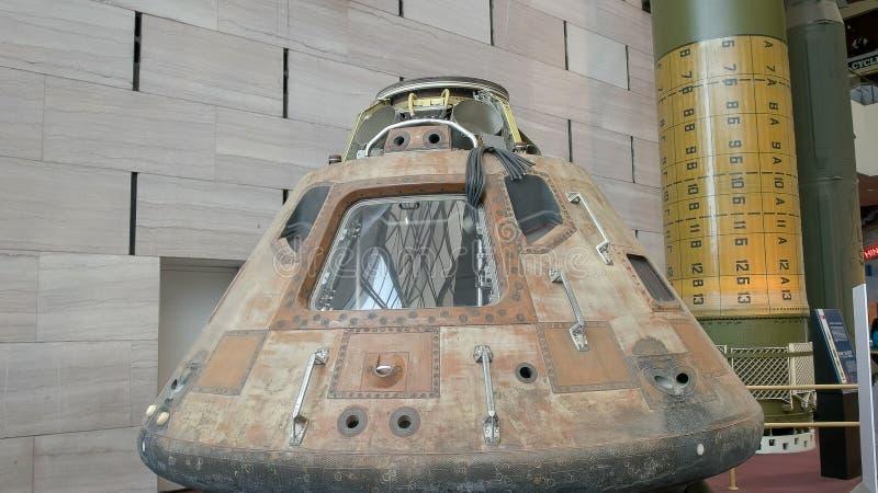 WASZYNGTON, DC, usa - WRZESIEŃ 10, 2015: zakończenie w górę widoku Apollo 11 nakazowy moduł zdjęcia royalty free