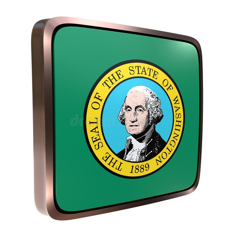 Waszyngton flaga ikona ilustracji