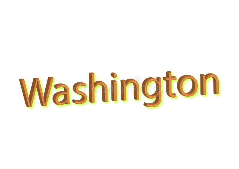 Waszyngton pisać ilustracja, amerykański stan odizolowywający w wh ilustracji