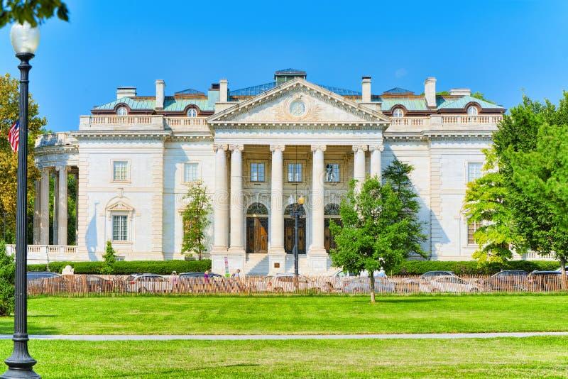 Waszyngton, usa, miastowy pejzaż miejski miasto Konstytucja Hall obraz royalty free