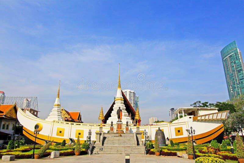 Wat严Nawa,曼谷,泰国 免版税库存图片