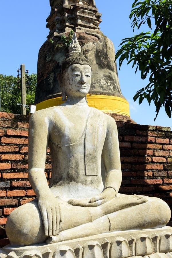 Wat亚伊柴Mongkol,阿尤特拉利夫雷斯,泰国 图库摄影