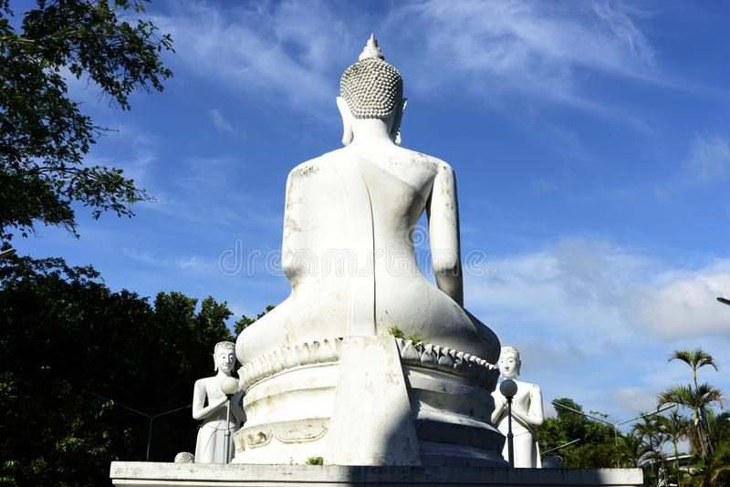 Wat亚伊柴Mongkol,阿尤特拉利夫雷斯,泰国 库存图片