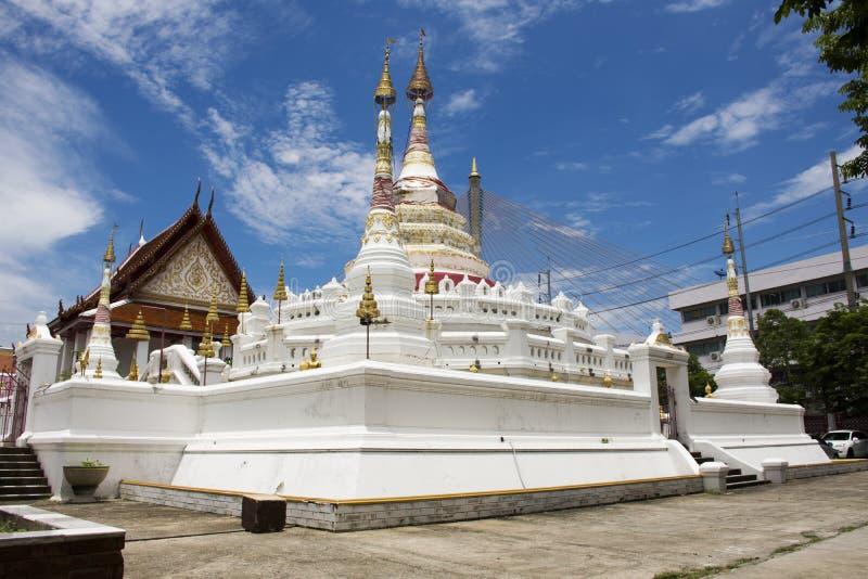Wat在Amphoe Phra Pradaeng的Songtham Worawihan在萨穆特Prakan,泰国 库存图片