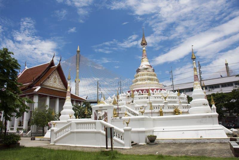 Wat在Amphoe Phra Pradaeng的Songtham Worawihan在萨穆特Prakan,泰国 免版税库存图片