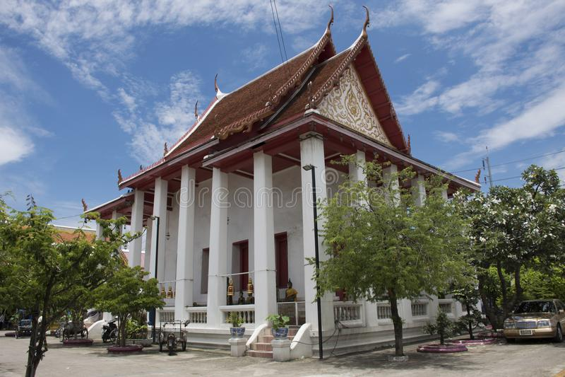 Wat在Amphoe Phra Pradaeng的Songtham Worawihan在萨穆特Prakan,泰国 免版税图库摄影
