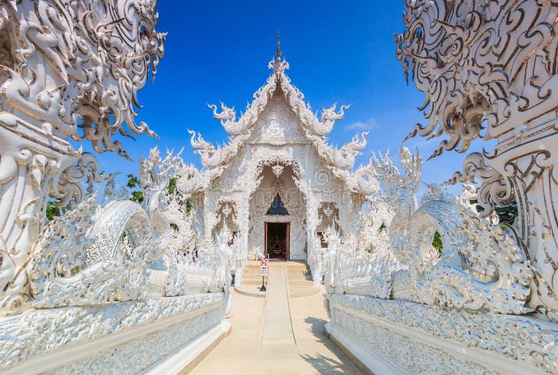 Wat在Chiangrai省,泰国的Rong Khun 库存图片